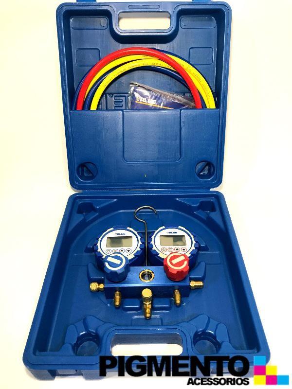 CONJ.MANOMETROS DIGITAIS 2 VIAS R22-R32-134A-404A-407C