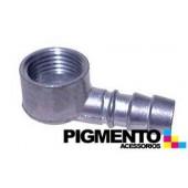 BICO CURVO P/ TUBO DE GAS NAT. (ALUMINIO) (FEMEA 1/2)