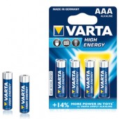 Pilhas Alcalinas Varta Energy LR3 AAA 1.5V 1100mAh - Pack 4Un