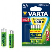 Pilhas Recarregáveis Varta 2100mAh AA HR6 1.2V
