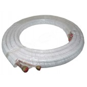 TUBO COBRE ISOLADO 1/4+1/2 (ROLO 5 mt. - ESPESS. 0,80mm)