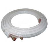 TUBO COBRE ISOLADO 1/4+3/8 (ROLO 5 mt. - ESPESS. 0,80mm)