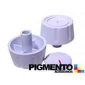 BOTAO P/ FOGAO FURO 8 mm ALTO. ( BRANCO) UNIVERSAL