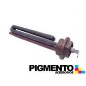 """RESISTENCIA P/ CALDEIRA 1200W (ROSCA 1"""" COMP. 16cm.)"""