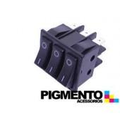 INTERRUPTOR TRIPLO 35X30 TECLA PRETA (O-I) (6 T)
