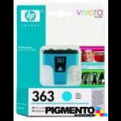 Tinteiro (C8771E) PhotoSmart 3210/8250 Num.363 Azul  COMPATÍVEL