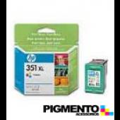 Tinteiro Officejet J5780/D4260 (CB338E) Num.351XL Tricolor  COMPATÍVEL