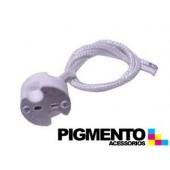 SUPORTE LAMPADA HALOGENIO C/ FIO (GU 5.3- 12V.)