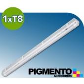 ARMADURA ESTANQUE P/ 1 LAMPADA DE LED (120cm.)