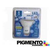 LAMPADA DE LED 3W.(=20W.) 230V. GU10 (3000K / 180 Lm.)