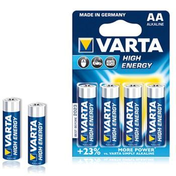 Pilhas Alcalinas Varta Energy LR6 AA 1.5V 2600mAh - Pack 4Un