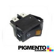 INTERRUPTOR C/ SINAL. AMARELO ( 12,5x27,6mm - 4T.)