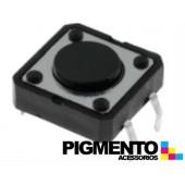Botão miniatura 12x12x(4.3)mm SPST-NO 12VDC 50mA THT 2.5N