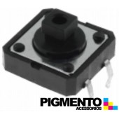 Botão miniatura 12x12x(7.3)mm SPST-NO 12VDC 50mA THT 2.5N