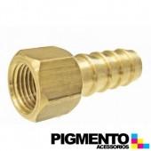 BICO RECTO FEMEA 1/2 P/ MANGUEIRA DE GAS BUTANO