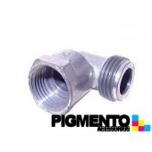 CURVA 90º P/ GAS M/F 1/2 (ALUMINIO) ( FEMEA CONICA)