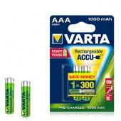 Pilhas Recarregáveis Varta HR03 AAA 1000mAh 1.2V