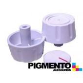 BOTAO P/ FOGAO FURO 6 mm ALTO ( BRANCO) UNIVERSAL