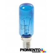 LAMPADA AZUL P/ FRIG. ( E14-25W. )