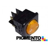 INTERRUPTOR LUMINOSO 25X25mm 4C AMARELO