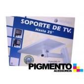 """SUPORTE P/ TV """"25"""" PRATEADO"""